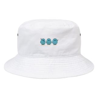 どうめき3ポーズ(デフォルメバージョン)帽子 Bucket Hat