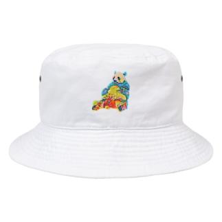 白黒じゃないパンダ  Bucket Hat