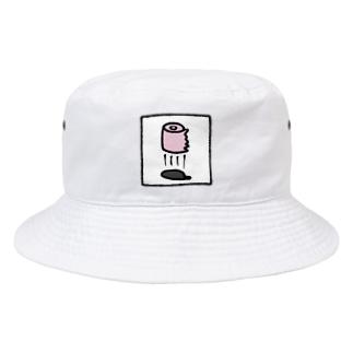 空飛ぶトイレットペーパー Bucket Hat