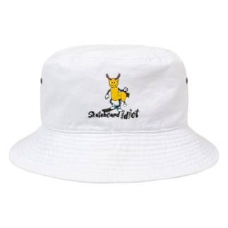 Sk8ersLoungeのskateboard idiot Bucket Hat