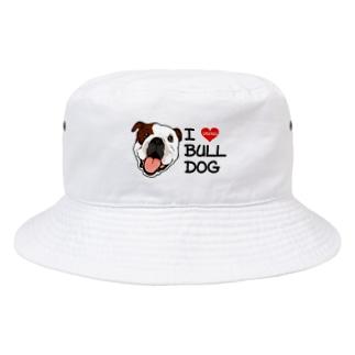 I♡ブルドッグ Bucket Hat