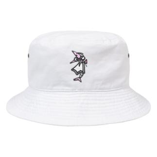 さつきうさぎえびえびショップのEbi Maid えび丸 Bucket Hat
