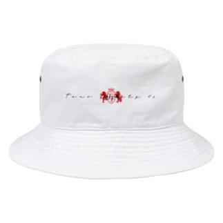 ロゴハット ホワイト Bucket Hat