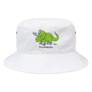トリケラトプスさん Bucket Hat