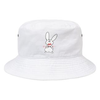 ぱんつどうめい あかいろりぼんのうさぎさん Bucket Hat