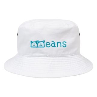 Beans北欧風ブルーロゴ Bucket Hat