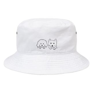 仲良しわんこ Bucket Hat