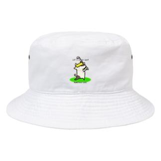 名もなきウシさん Let's enjoy Golf Bucket Hat