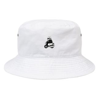 弁慶バイク(モノクロ) Bucket Hat