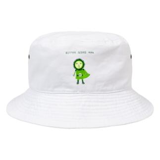 沖縄デザイン「ゴーヤマン」 Bucket Hat