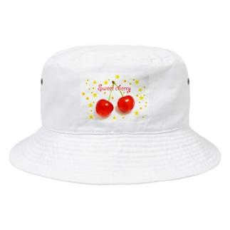 さくらんぼ Bucket Hat