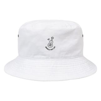 ウクレレちゃんhat_white Bucket Hat