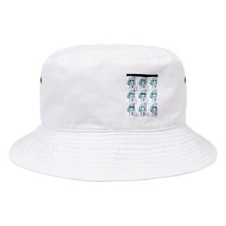 レモン手書きかわいいメガネ女子ちゃん♥️ Bucket Hat