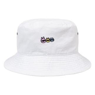 うさぎとねことくま Bucket Hat