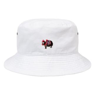 お粧しヒマラヤのヤク Bucket Hat