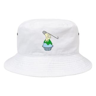 練乳ねこかき氷(メロン/抹茶) Bucket Hat