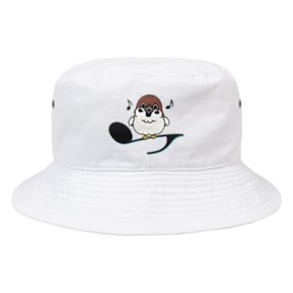 CT161 スズメがちゅんA*イラストサイズ大きいver* Bucket Hat