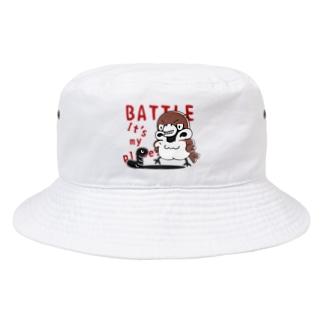 CT166 スズメがちゅん*BATTLEちゅん Bucket Hat