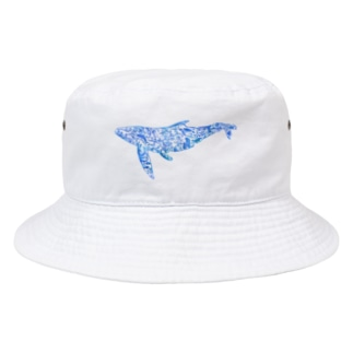 Whale In The Sea Animal(青) Bucket Hat