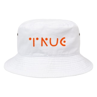 TRUE Simple LOGO Bucket Hat