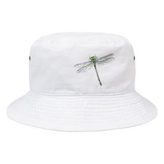 オニヤンマ 色鉛筆画 Bucket Hat