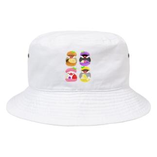 ぎゅっ♪マカロン文鳥ず Bucket Hat