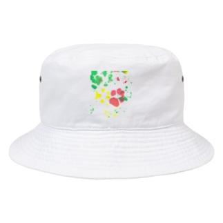 保護犬足跡柄グッズ Bucket Hat