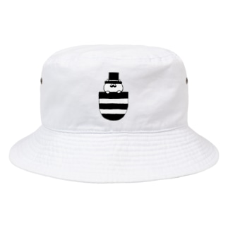 pocket gentleman cat Bucket Hat