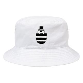 nyakamoのpocket gentleman cat Bucket Hat