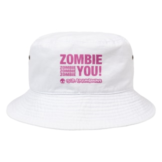 Zombie You! (pink print) Bucket Hat