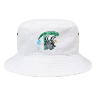 くろうさとアマビエ Bucket Hat