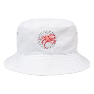 タコさん ハングルデザイン Bucket Hat