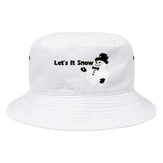 夏こそ涼しくスノーマン! Bucket Hat