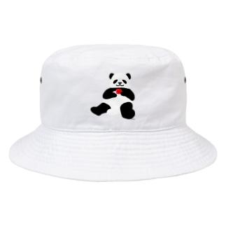 まったりパンダ-リンゴところりん Bucket Hat