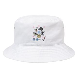 にゃーにゃー組*らくがきにゃ! Bucket Hat