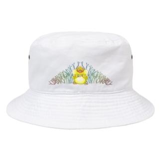 ぷるぷるリップのカエル Bucket Hat