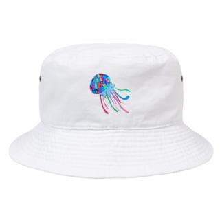 めちゃカラフルくらげ Bucket Hat