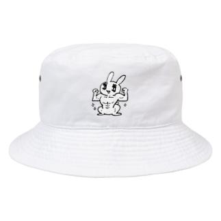 マッチョうさぎちゃん Bucket Hat