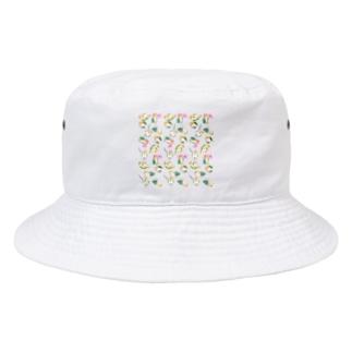 たっぷりシロハラインコちゃん【まめるりはことり】 Bucket Hat