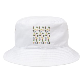 たっぷりウロコインコちゃん【まめるりはことり】 Bucket Hat
