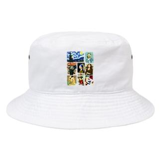 ドット美術館 Bucket Hat