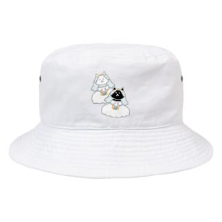シロクロニャンコニャンコ Bucket Hat
