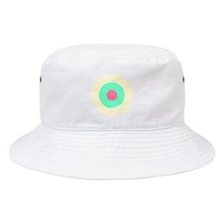 サークルa・クリーム・ペパーミント・ピンク2 Bucket Hat