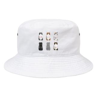 6匹の猫ちゃん Bucket Hat