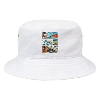 ドット浮世絵 Bucket Hat