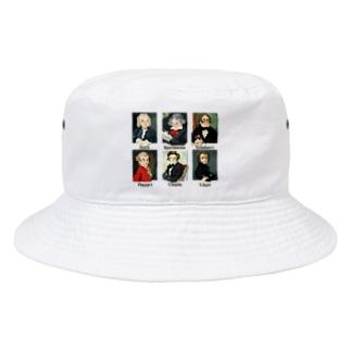 ドット 音楽室の肖像画 Bucket Hat