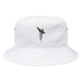 バタフライ Bucket Hat