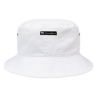 文字ネタ 515 サラブレッドステッカー 黒 Bucket Hat