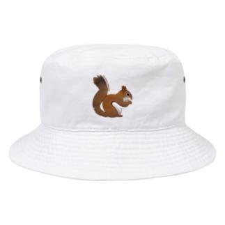 心にリスを Bucket Hat