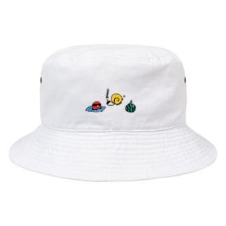 カタツムリとタコ Bucket Hat